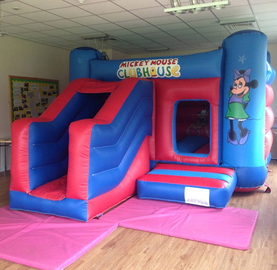 Mickey Mouse Bouncy Castle and Slide Hire