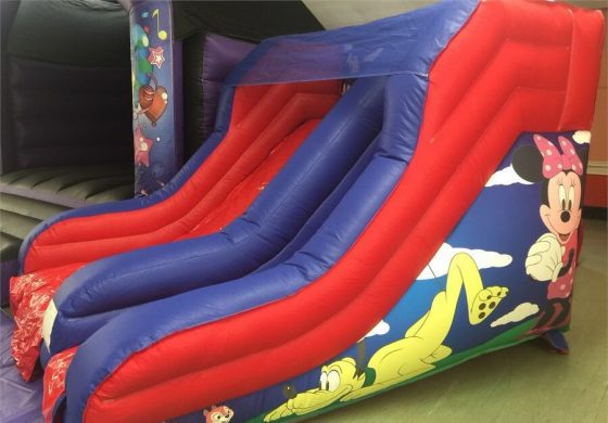 Inflatable mickey bouncy slide
